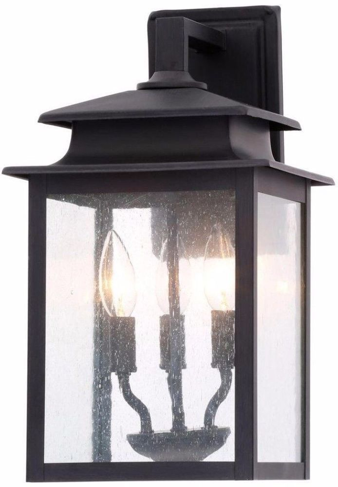 Three-Light Rust Wall Sconce Traditional Outdoor Lantern Home Decor New #lighting