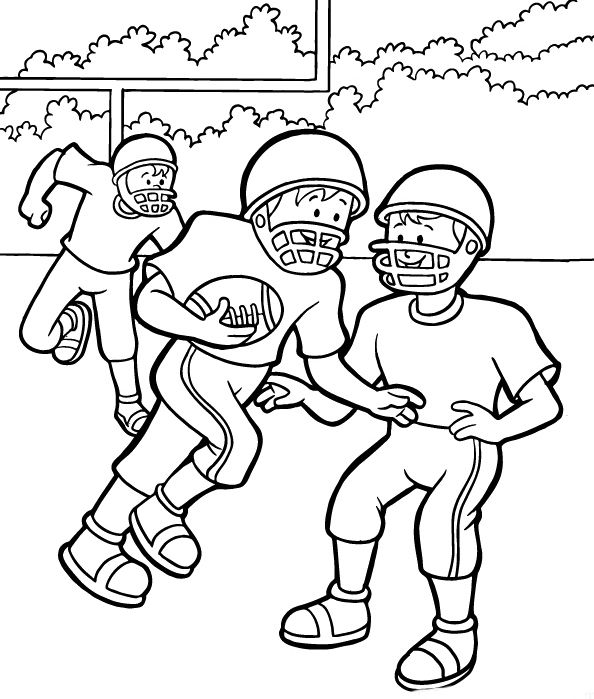 Kids Play Football Together Coloring Pages