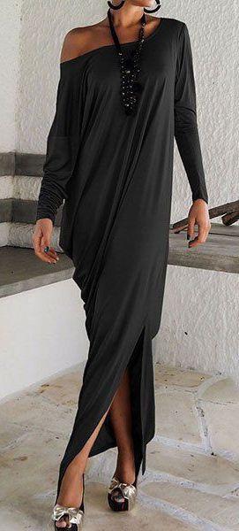 Loose Maxi Dress ==