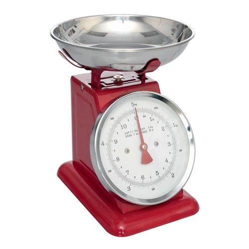 Retro Red Kitchen Scales