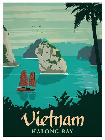 Image of Vintage Vietnam Poster