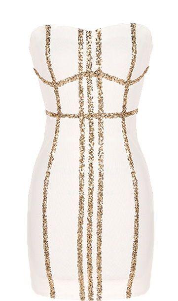 Golden Harp Dress