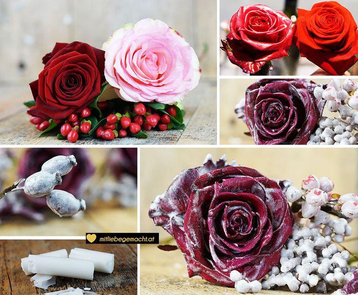 haltbare Wachsrosen aus Kerzenresten selber machen