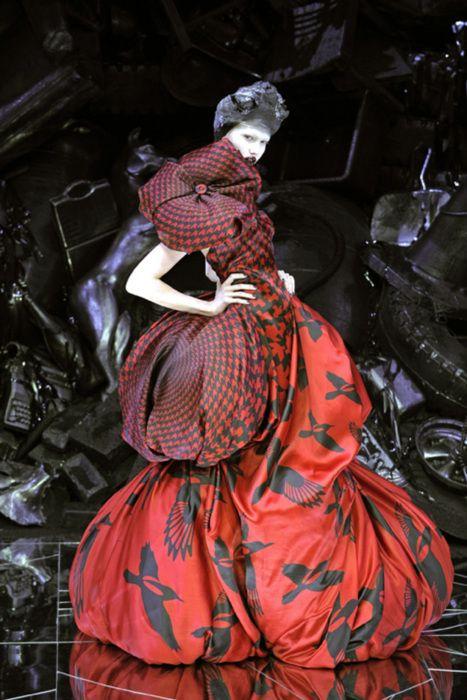 Karlie Kloss for Alexander McQueen's 'Horn of Plenty'   F/W 2009