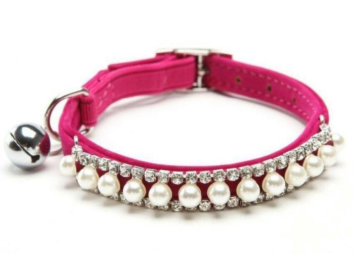 Vintage y Gatos: Collar para gato con perlas y brillos - Kichink!
