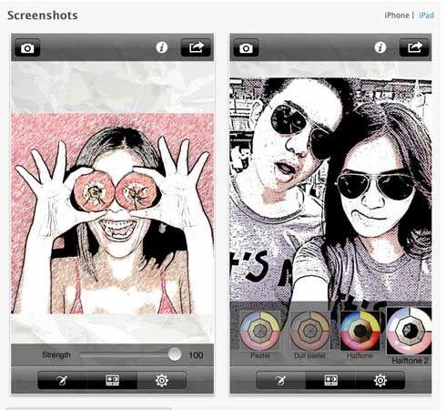 Como convertir fotos en dibujos o caricaturas con un iPhone o iPad