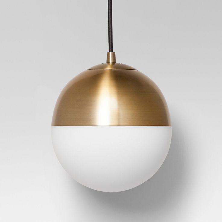 Geneva glass globe pendant includes cfl bulb brass project 62 gold