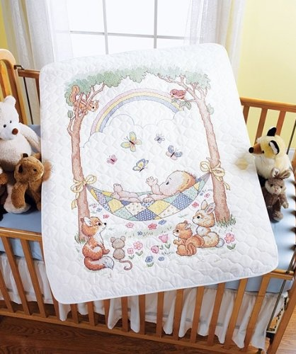 Bucilla Baby Our Little Blessing Quilted Crib Cover