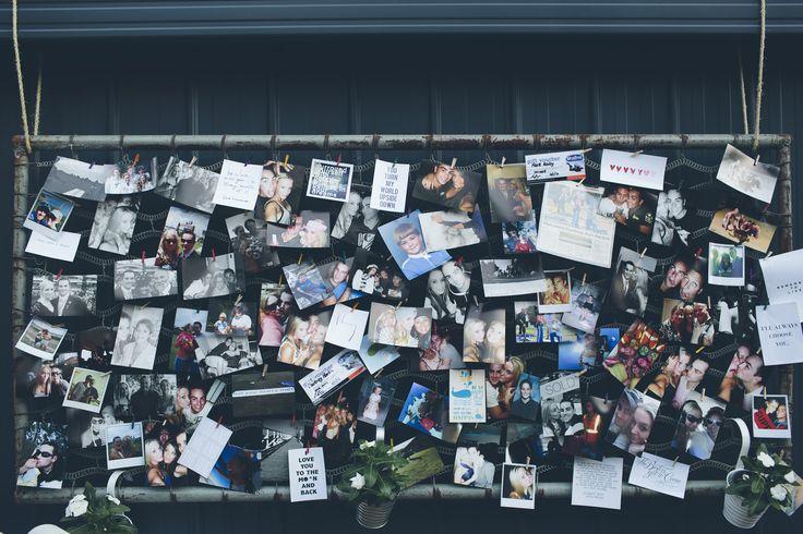 Bed base photo board