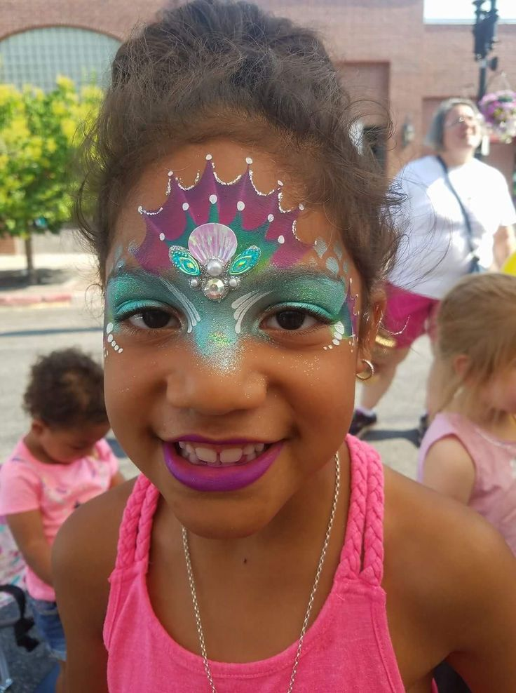 best 25  mermaid face paint ideas on pinterest