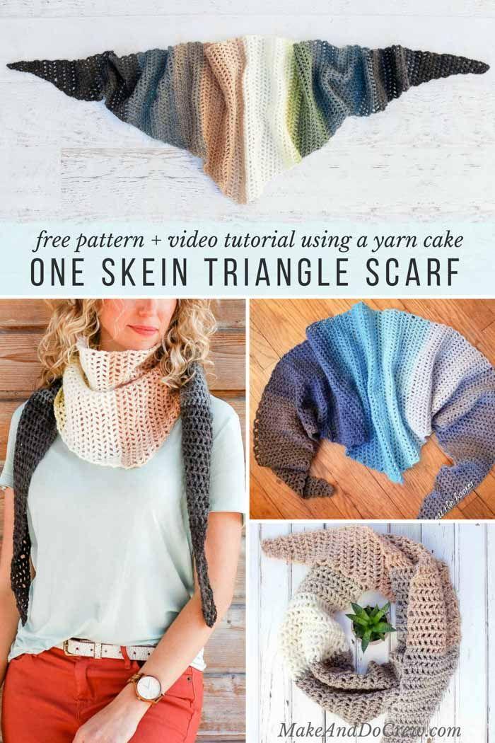 Crochet Triangle Scarf Video Tutorial Using Mandala Yarn