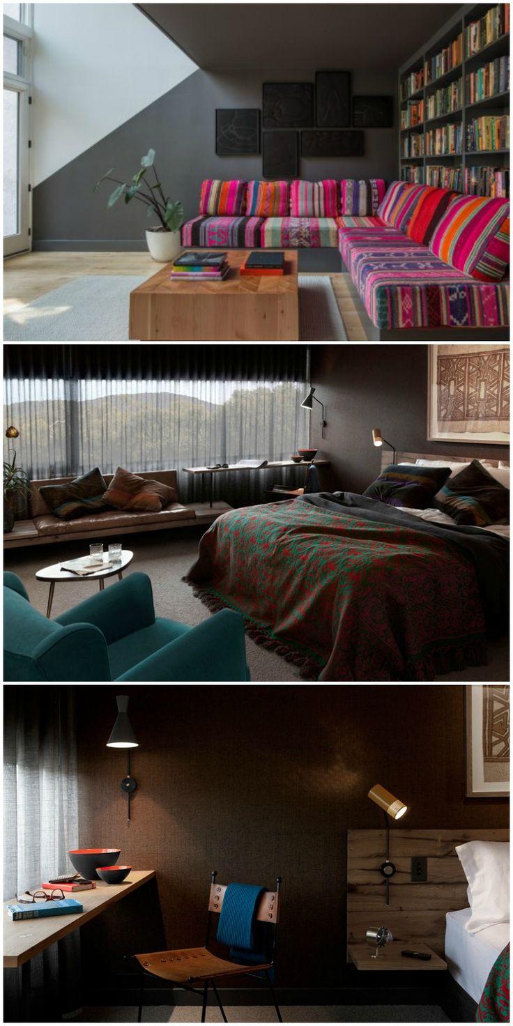 Seasonal Colour Analysis - seasonal colours in interior design - Deep Winter //  ciemne wnętrze, intensywna zima