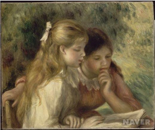 """""""책 읽는 소녀"""" , 오귀스트 르누아르"""