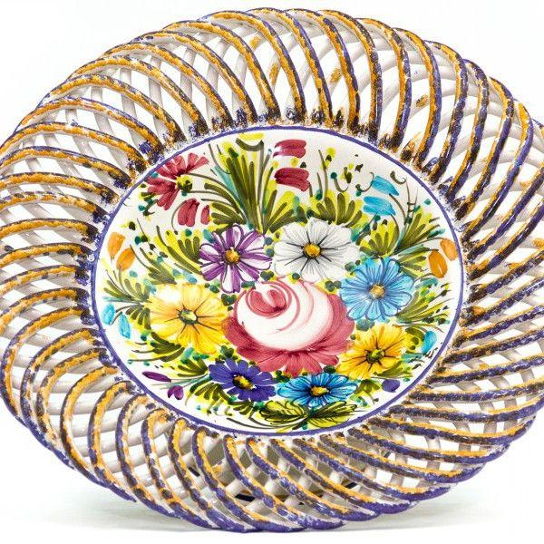 Handmade Italian ceramic, Fioraccio Abruzzo region