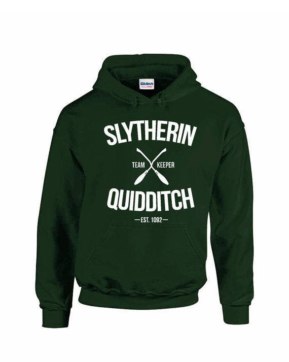 Slytherin Quidditch Team Seeker Adult Unisex Hoodie by LucyGooseCo