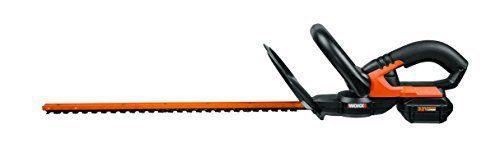 Product review for WORX 32V MaxLithium 20-Inch Cordless Hedge Trimmer with Dual-Action Cutting Blades – WG275. The WORX WG275 32V Li-ion 20-Inch Cordless Hedge Trimmer is a lightweight, compact hedge trimmer designed to make shaping your hedges quick and easy. The 32V trimmer eliminates the need for either a gas and oil mix for your tool or an extension cord. This 32V tool is light weight, has an...