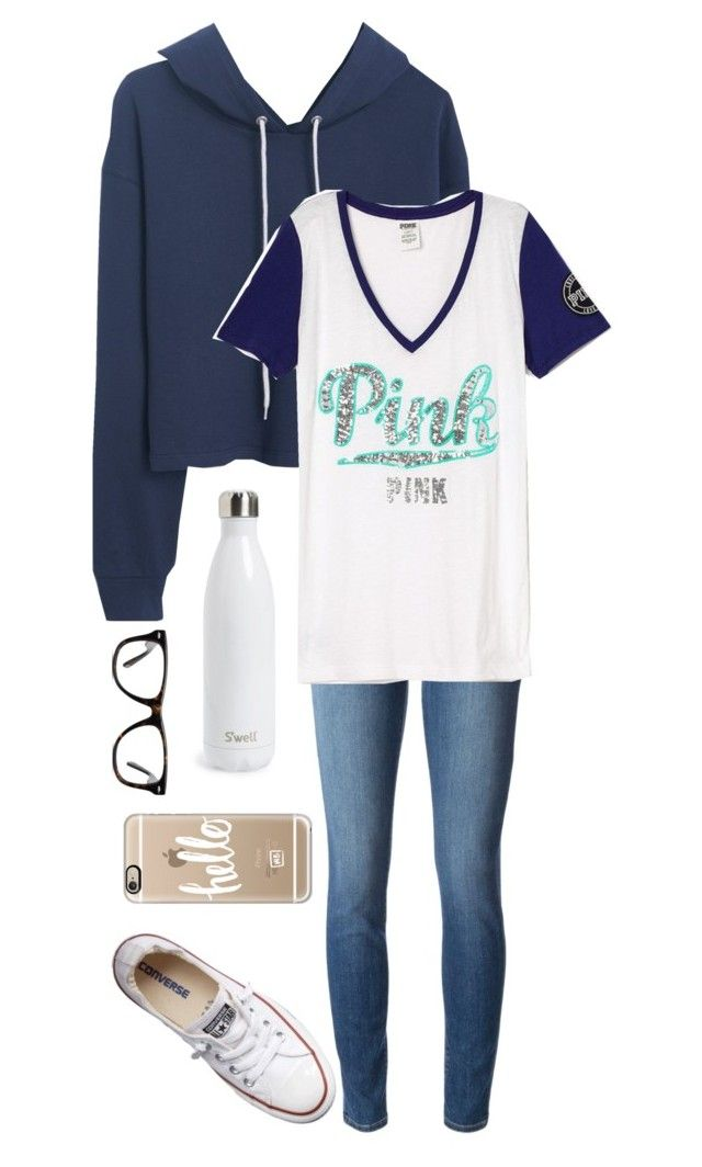 And we danced all night to the best song ever by lydia-hh on Polyvore featuring Victoria's Secret, MANGO, J Brand, Converse, Casetify, Muse and S'well