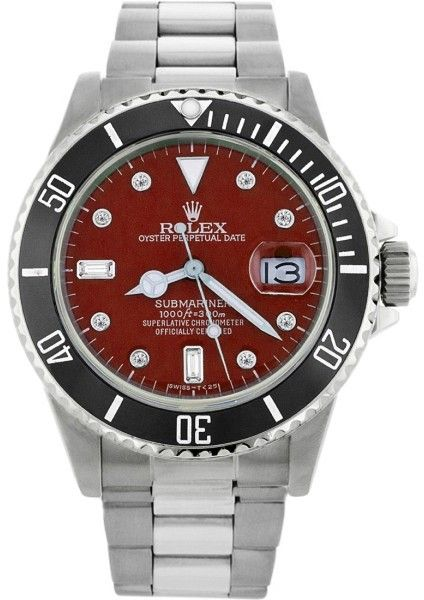 Rolex Submariner 16610 Stainless Steel & Red Dial 40mm Mens Watch