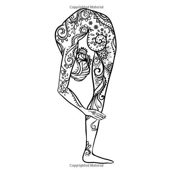 Adult Coloring Books Zen Yoga