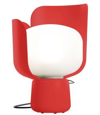 Scopri Lampada da tavolo Blom -- H 24 cm, Rosso di Fontana Arte, Made In Design Italia