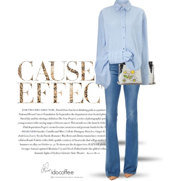 A fashion look from February 2016 by idocoffee featuring Victoria, Victoria Beckham, Frame Denim, Dolce&Gabbana, Envi e Love Always