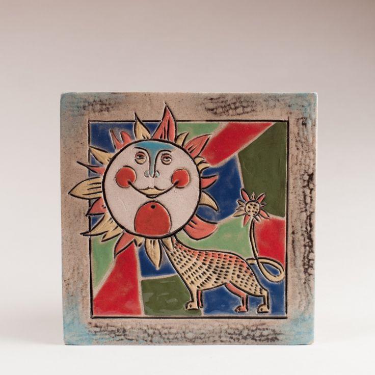 Керамическая плитка «Лев» — Художественная керамика в интернет магазине Кукла-Арт.