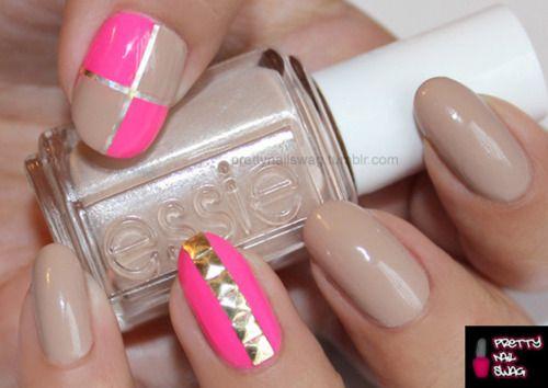 love love love!Nails Art, Nails Design, Hot Nails, Hot Pink, Nails Polish, Neon Nails, Long Nails, Hair, Nails Swag