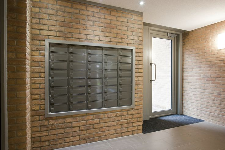 Fire rated mailboxes fitted in a lobby.