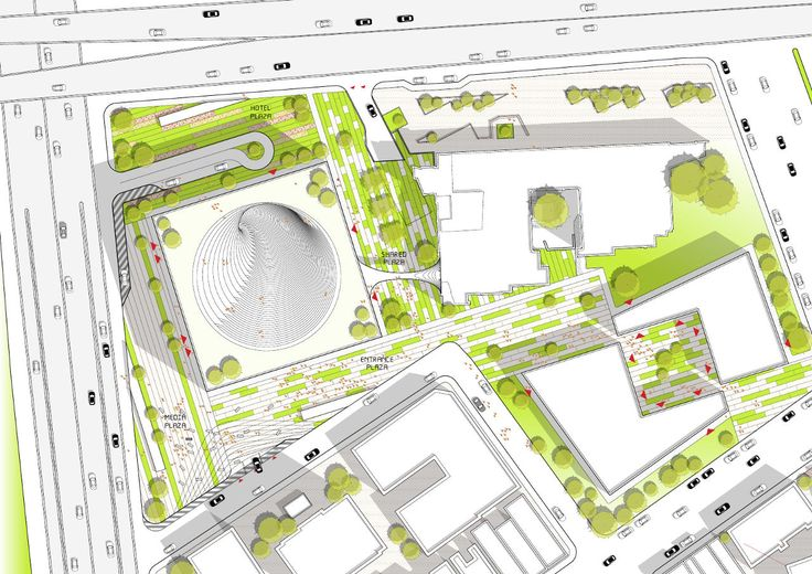 Bjarke Ingels Group's (BIG) site plan for the Technology, Entertainment and Knowledge (TEK) Center in Taipei, Taiwan