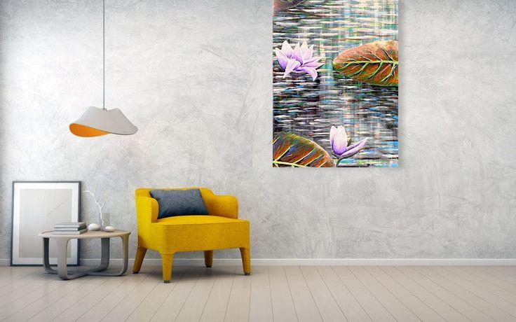 Lilies Metal Print by Medea Ioseliani #framedart  #wallart #framedprints #artprint #artprints #artprintsforsale #artdecor #artdeco