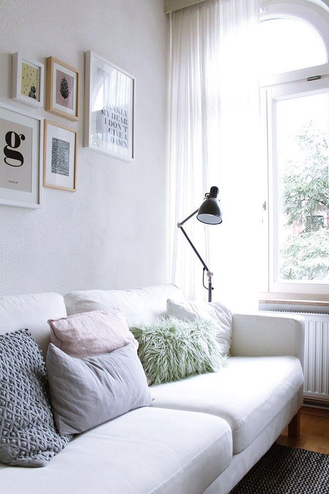 Como integrar estancias y decorar en blanco