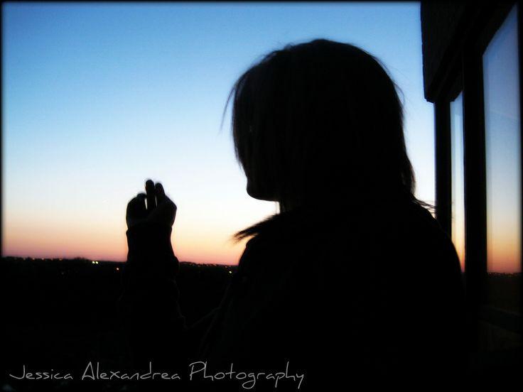 Skye, sunset, silhouette
