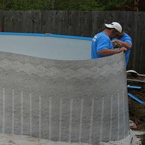 Gráfico de volume de areia de alvenaria para instalações de piscinas acima do solo   – Pools