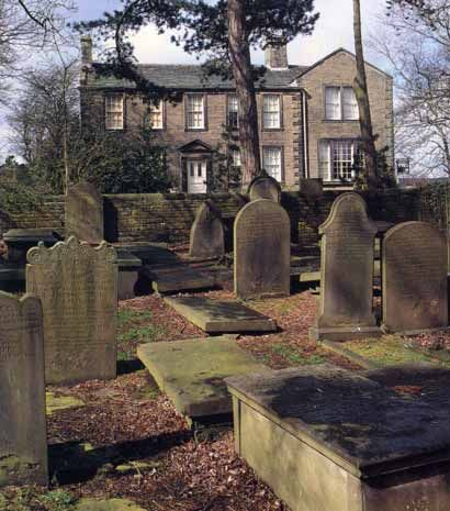 Bronte Parsonage and cemetery, Haworth. It's just what you'd think Wuthering Heights should look like.