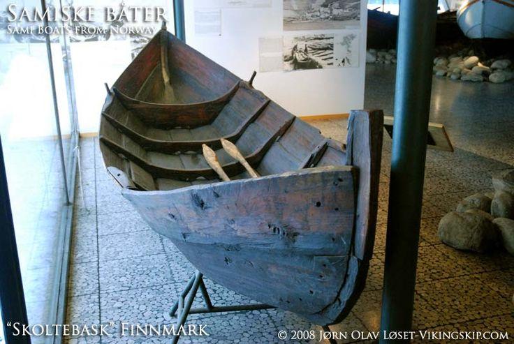 Samiske båter - Sami boats - elvebåter - elvebask - skoltebask - Vikingskip og norske trebåter - Viking ships and norse wooden boats