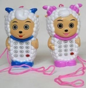 Baby children call Cell phone toy Animal  toy phone Music button puzzle