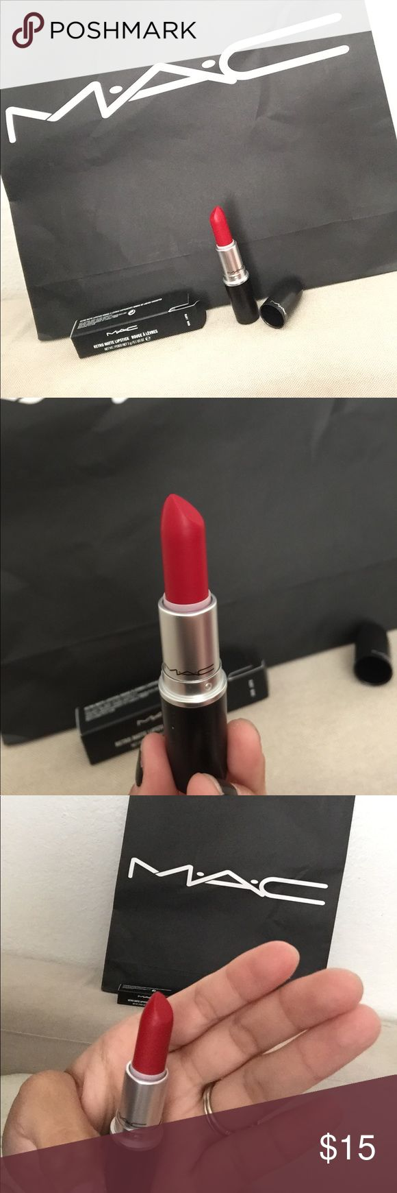 Ruby woo Mac Lipstick 💄 Brand new in box. Retro Matte Lipstick in the shade Ruby Woo. 100% authentic from the Mac store. MAC Cosmetics Makeup Lipstick
