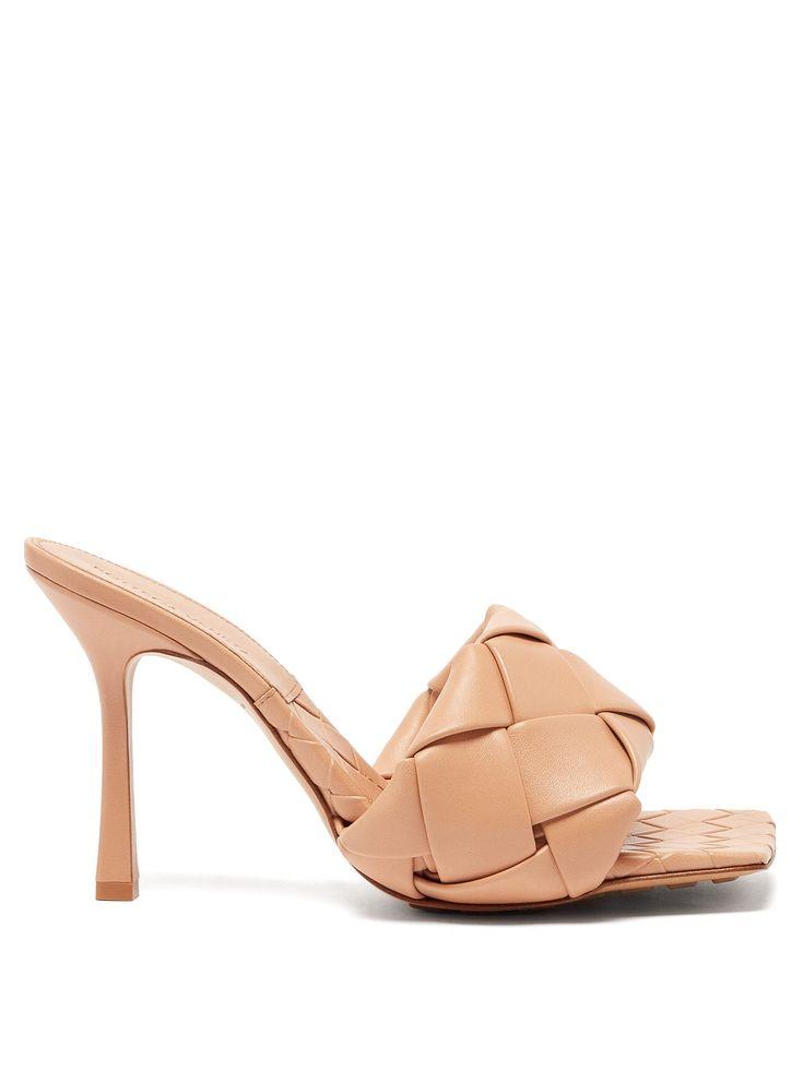 Bottega Veneta Bv Lido Intrecciato-Woven Leather Mules