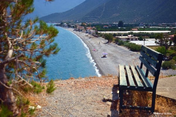 View to the charming beach of Leonidio, Peloponnese