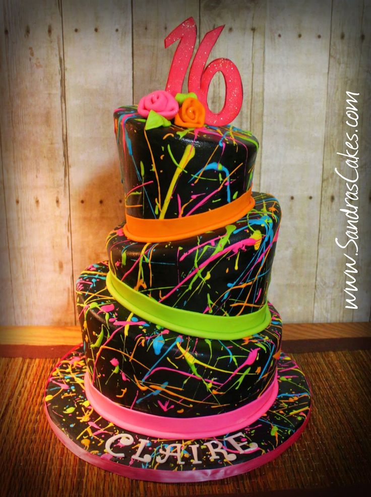 Sandra's Cakes: Paint Splatter Cake!