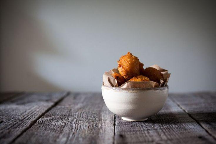 Classic Southern Hushpuppies with Jalapeño Cilantro Aioli  recipe on Food52