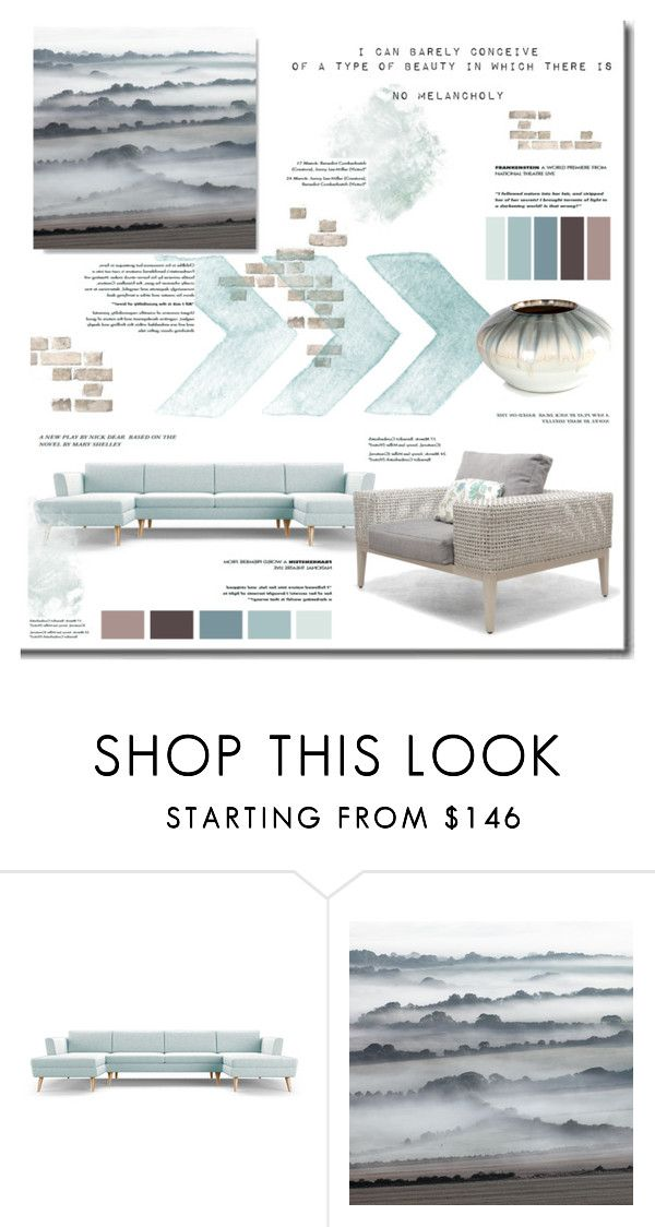 """Melancholy"" by sweetestdreamer on Polyvore featuring interior, interiors, interior design, hogar, home decor, interior decorating, Joybird Furniture, John-Richard y Home"