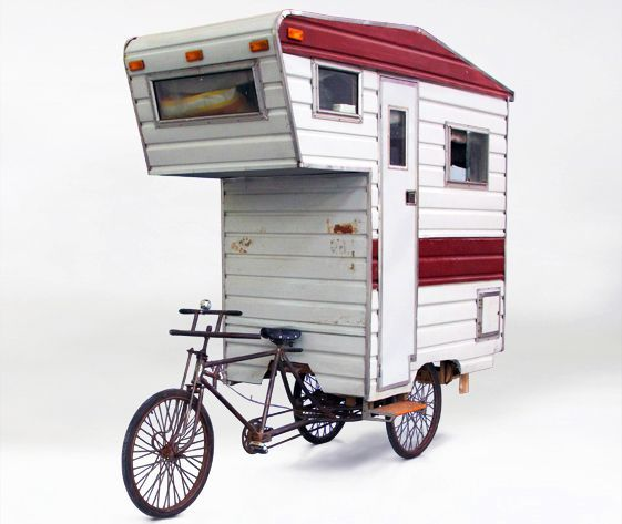 Bike camper...adventure cycling, bicycle micro camper, bicycle towed camper, bike camper trailer tent, bike touring, Biking, Camping, DIY bike camper, That's interesting