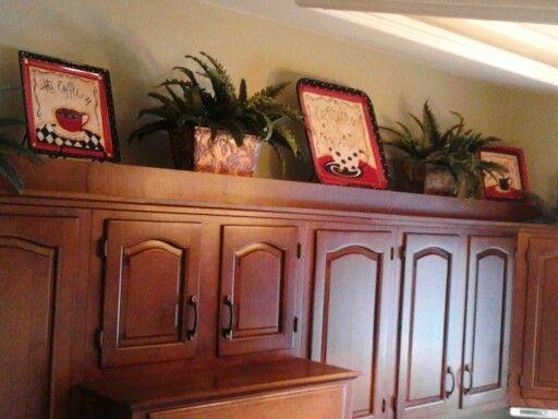 above cabinet decor #kitchendecoratingideasabovecabinets