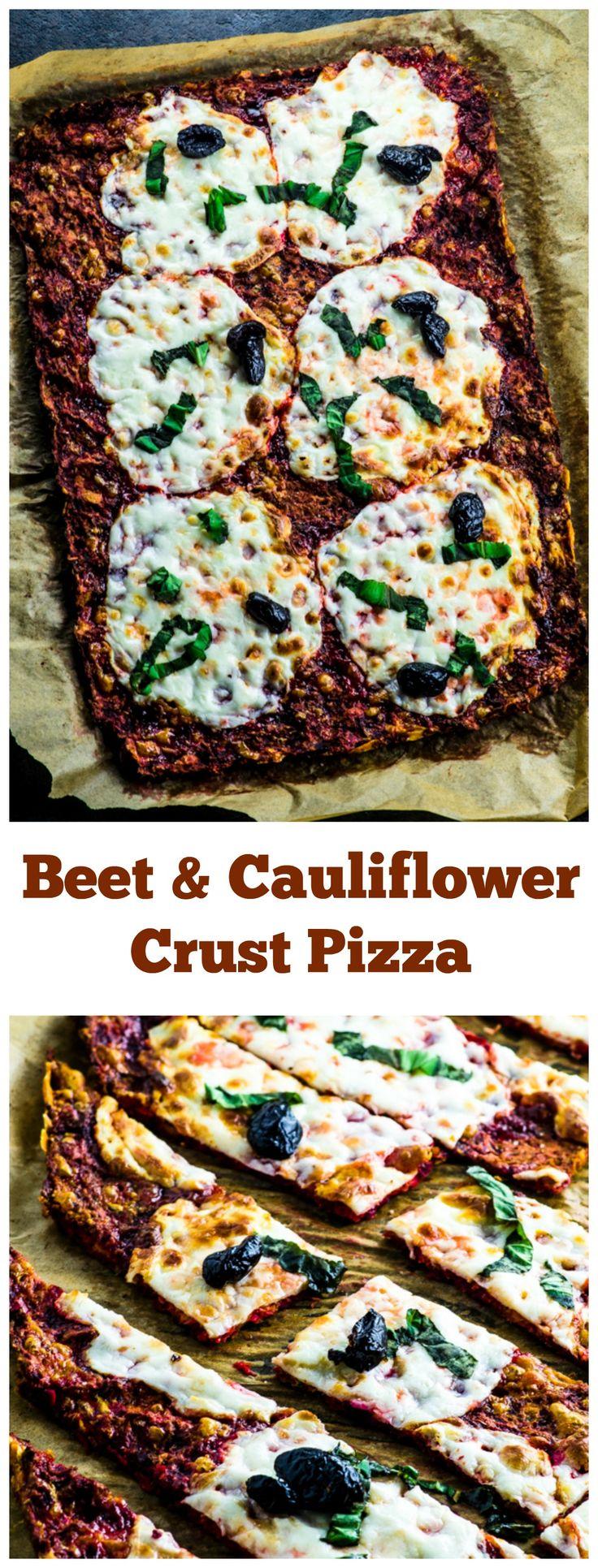 Beet and Cauliflower Crust Passover Pizza