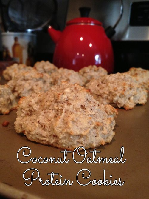 Coconut Oatmeal Protein Cookies!  SO DELICIOUS HEALTHY EASY HIGH HIGH PROTEIN LOW LOW LOW CARB