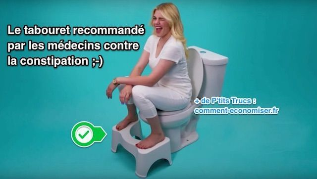 Plus besoin de prendre des médicaments pour aller au p'tit coin. Ce tabouret a littéralement changé ma vie ! Et ce n'est pas une blague. Il permet d'adopter LA position naturelle qui soulage la constipation. Regardez :-)  Découvrez l'astuce ici : http://www.comment-economiser.fr/accroupisseur-recommande-par-medecins-contre-constipation.html?utm_content=buffer41f8b&utm_medium=social&utm_source=pinterest.com&utm_campaign=buffer