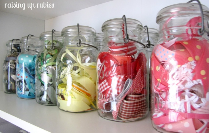 mason jars for craft supply storage