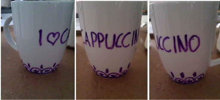 DIY cappucino cup
