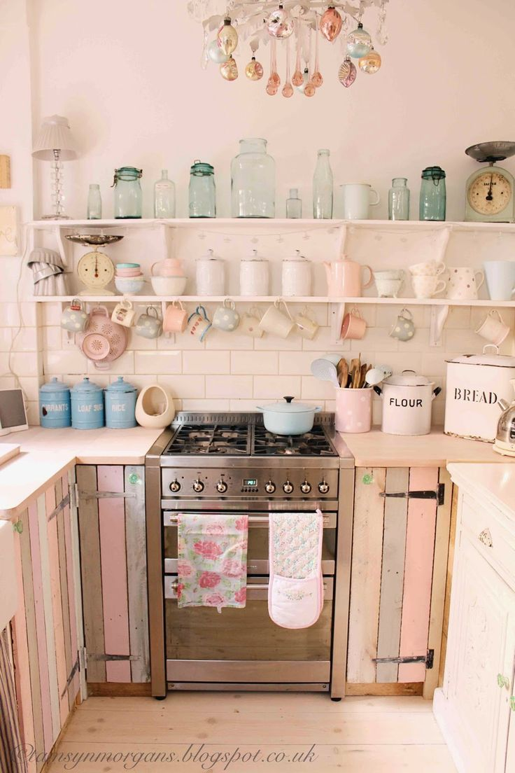 The Villa On Mount Pleasant Kitchen Update Pink Kitchen Decorvintage Kitchenkitchen Ideasgreen Kitchen Interiormint